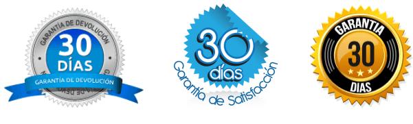 logos insignias badges 30 dias de garantia o devolución del dinero - en espanol