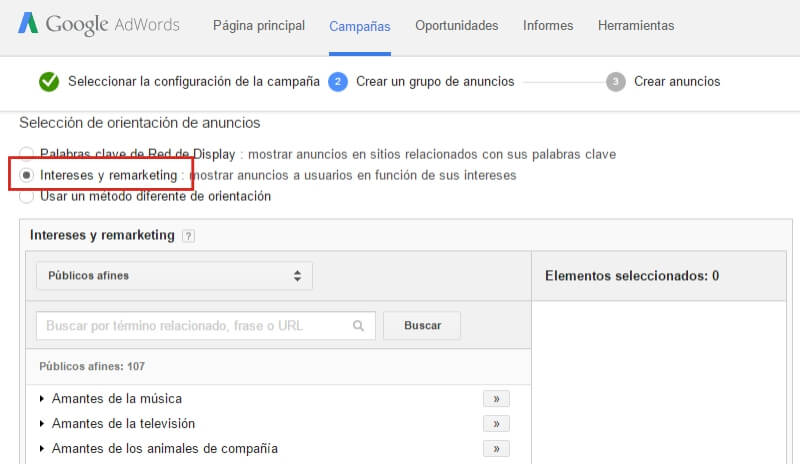 Campaña de Remarketing - Google AdWords