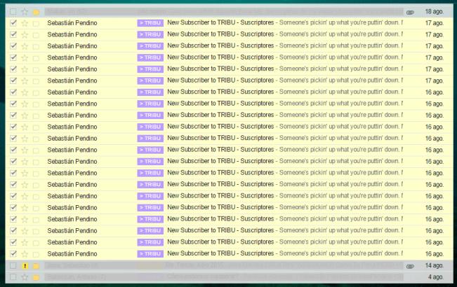 Gmail - Mailchimp - Nuevos Suscriptores