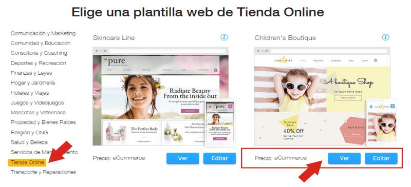 Cómo elegir una plantilla para Tienda Online - Wix