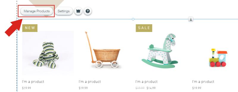 Wix Store - Administrador de Productos