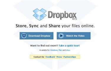 Una de las páginas de aterrizaje originales de Dropbox.