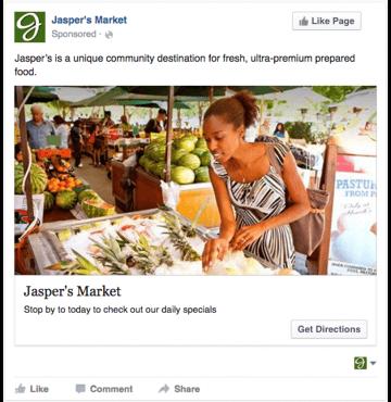 Campañas en Facebook: Ejemplo de un anuncio de pago