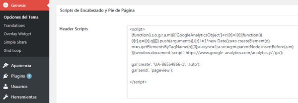 google-analytics-codigo-seguimiento-wordpress