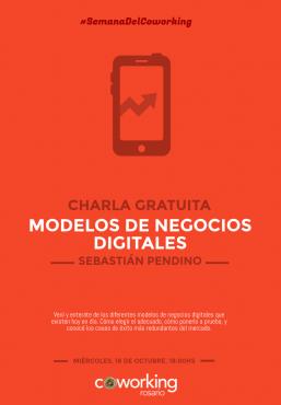Flyer - Modelos de negocio digitales para emprender en Rosario (Argentina)