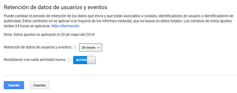 google-analytics-periodo-retencion-datos-gprd