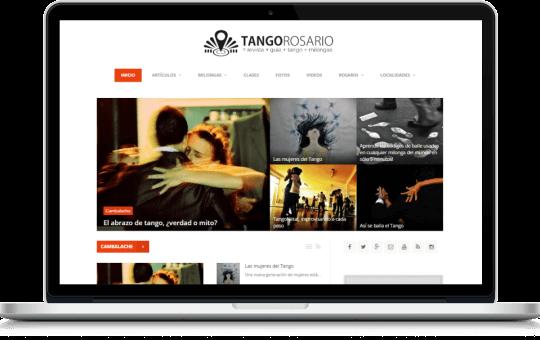Revista digital, guía de eventos y directorio de locales diseñado para Tango Rosario