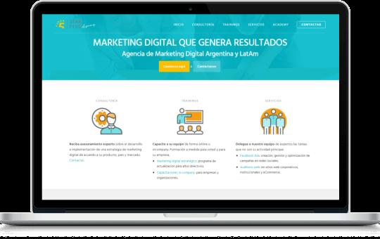 Web corporativa para empresas o agencias, diseñada para Agencia Starfive