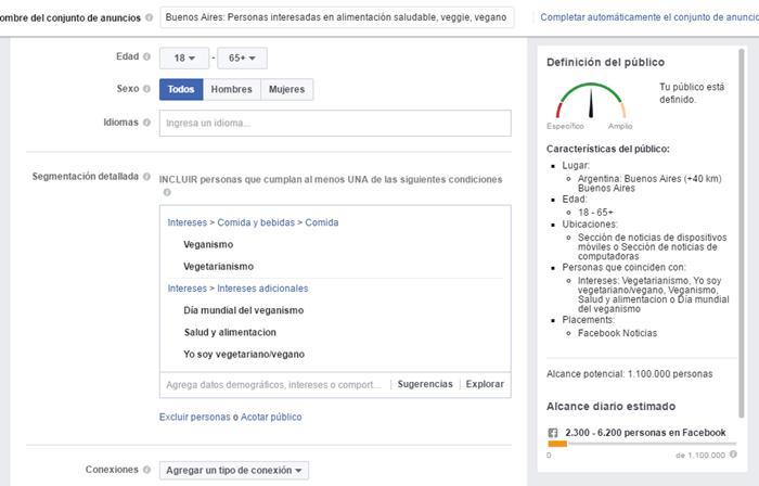 Validar nichos de mercado con Facebook Ads