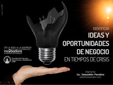[Conferencia] Identificar oportunidades de negocio en tiempos de crisis