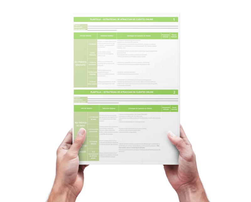 Plantilla: Plantilla de Estrategias de Atracción de Clientes. Descarga versión Editable